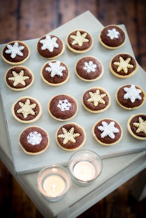 Chocolate snowflake tart